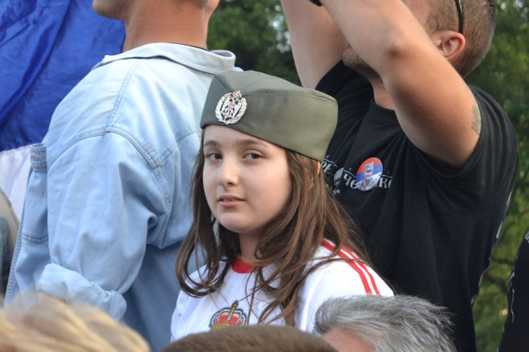 <p>A young girl attends a nationalist rally on May 29, 2011 in Belgrade, Serbia.</p>