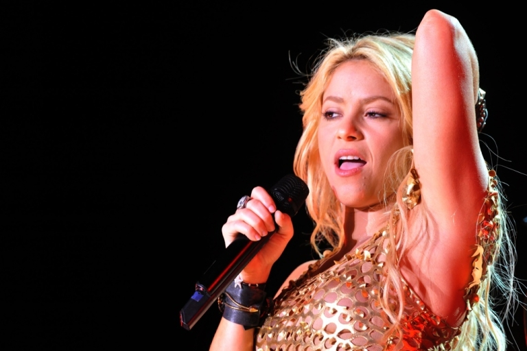 <p>Colombian singer Shakira performs during the 10th edition of the Mawazine international music festival