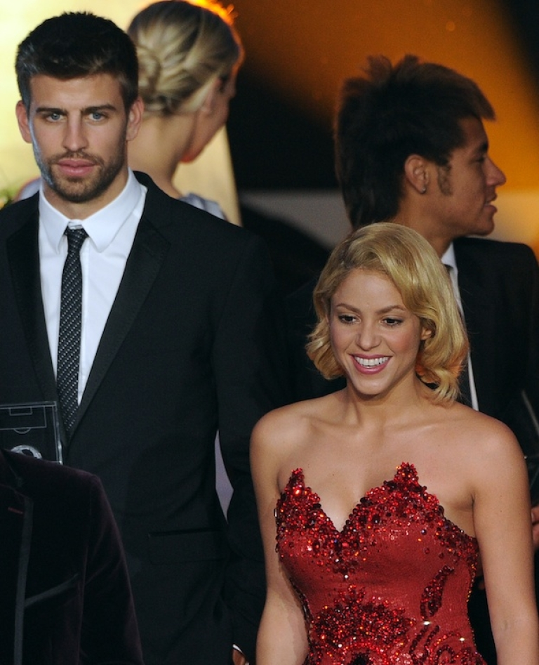 <p>Shakira and Gerard Pique attend the FIFA Ballon d'Or award at the Kongresshaus in Zurich on January 9, 2012.</p>