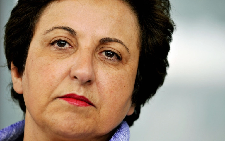 <p>Iranian Nobel peace laureate Shirin Ebadi, a prominent Iranian activist.</p>