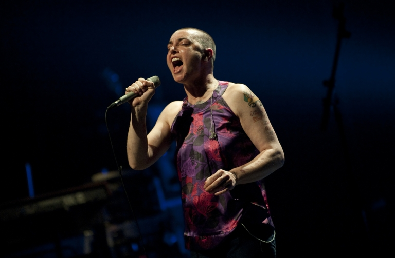 <p>O'Connor performs during a concert at the Koninklijk Circus, or Cirque Royal, in Brussels on April 12.</p>