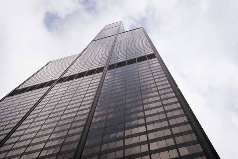 <p>Chicago's Willis Tower, previously known as the Sears Tower, rises above the city's skyline.</p>