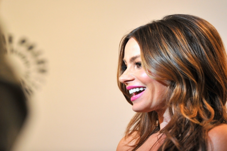 <p>BEVERLY HILLS, CA - MARCH 14: Actress Sofia Vergara arrives to The Paley Center for Media's PaleyFest 2012 honoring 'Modern Family' at Saban Theatre on March 14, 2012 in Beverly Hills, California.</p>