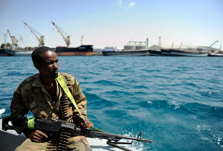 <p>A Somali coastguard returns from a patrol off the coast of Somalia's breakaway Republic of Somaliland on April 30, 2011.</p>