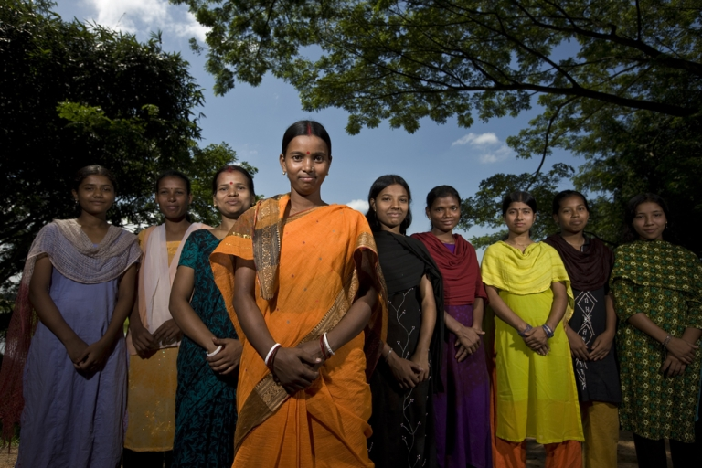 <p>A group of young girls in Bangladesh.</p>