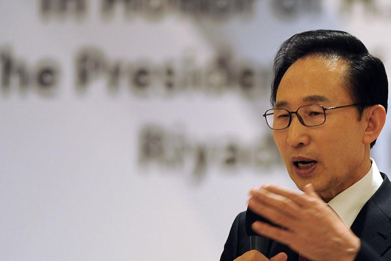 <p>South Korean President Lee Myung Bak.</p>