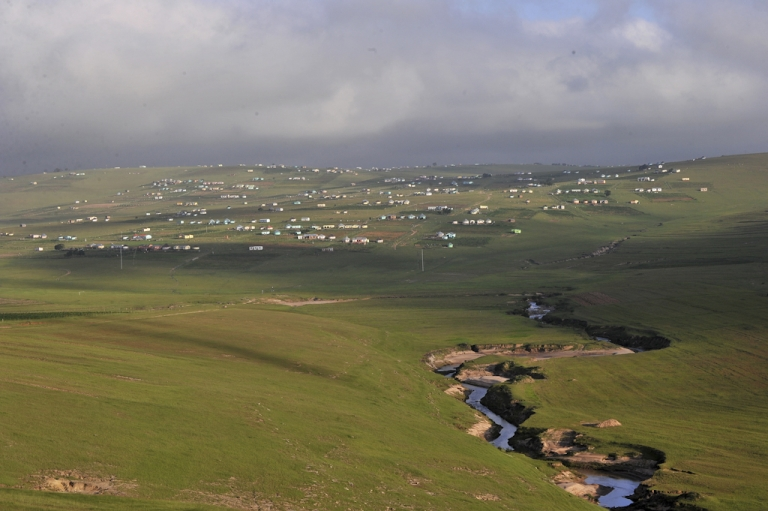 <p>The village of Qunu, near Mthatha in South Africa's Eastern Cape, where former president Nelson Mandela grew up, and where he spends most of his time today.</p>