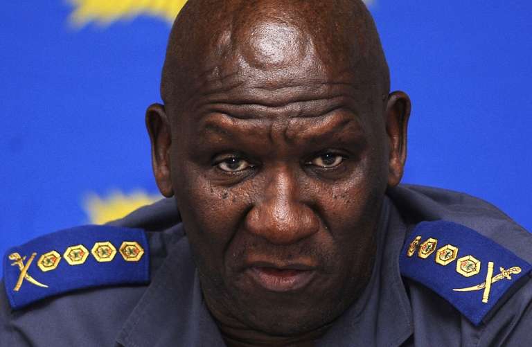 <p>South African National police Commissioner Bheki Cele gives a press conference on November 18, 2010 in Cape Town after the police have arrested a second man in connection with the murder of a Swedish newlywed on her honeymoon in Cape Town.</p>