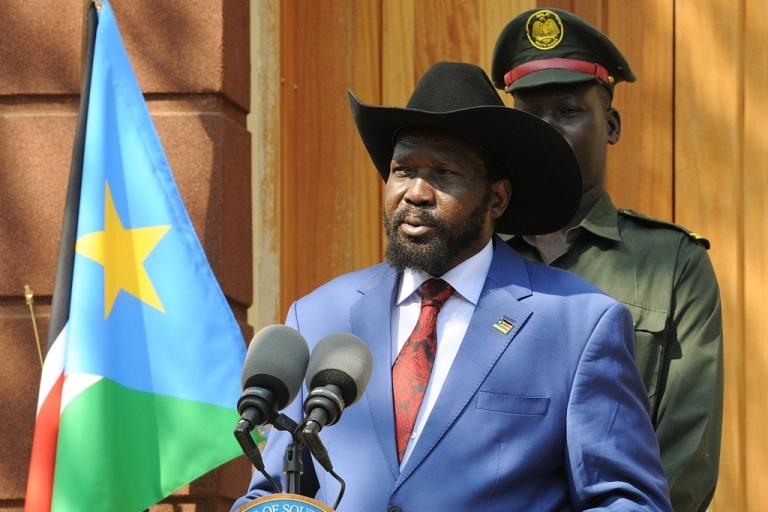 <p>South Sudan President Salva Kiir</p>
