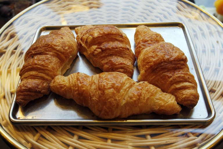 <p>Croissants are displayed at a bakery on Nov. 16, 2010 in Paris, France.</p>