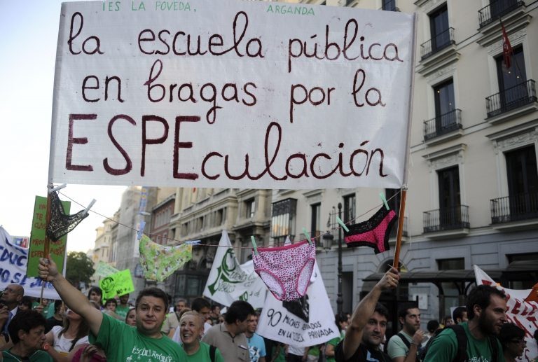<p>In a similar event in 2011, teachers demonstrated in Madrid to protest education spending cuts at a time when Spanish regions are under pressure to shore up their finances. Unions said between 70 and 80 percent of the region's 21,000 high school teachers joined the strike.</p>