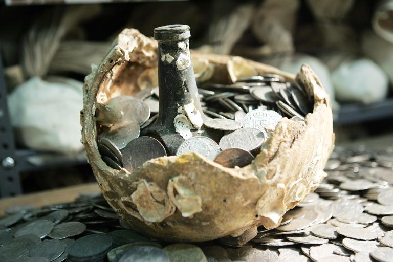 <p>Treasure recovered from the sunken Spanish ship