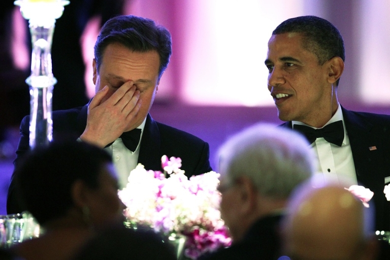 <p>British Prime Minister David Cameron seems a bit overcome by it all during last night's White House State Dinner.  British pundits are keeping an eagle eye out for signs that Cameron is succumbing to proximity to the imperial power.</p>