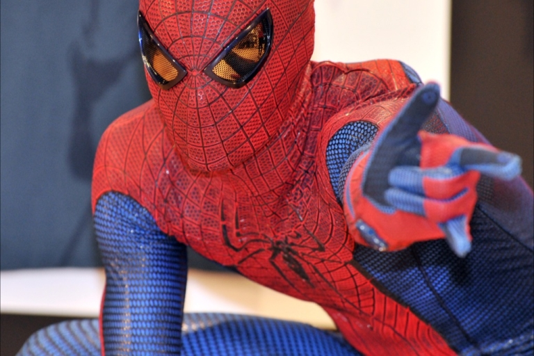 <p>The alleged thief was caught after a short foot pursuit dressed as Spider-Man.</p>