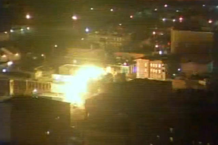 <p>An explosion caused by a natural gas leak leveled a strip club in Springfield, Massachusetts, on Nov. 24, 2012.</p>