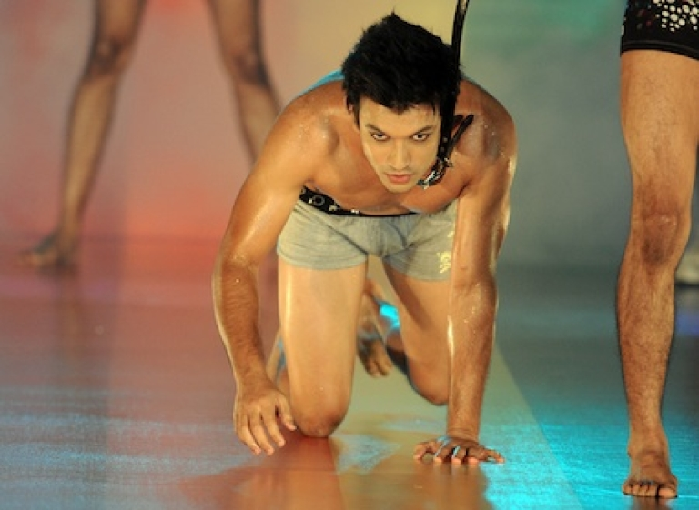 <p>Models celebrate an annual Gay Pride week in a fashion show in Colombo, Sri Lanka, in 2010. Sex between men is a criminal offense in Sri Lanka and lesbianism has been officially labelled