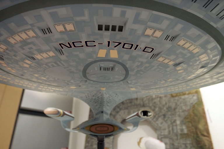 <p>A model of the USS Enterprise NCC-1701-D is seen during a press preview of