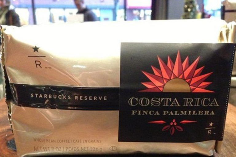 <p>A large cup of Starbucks' most expensive coffee to date, Costa Rica Finca Palmilera, will cost you $7. A bag, pictured above, goes for $40.</p>