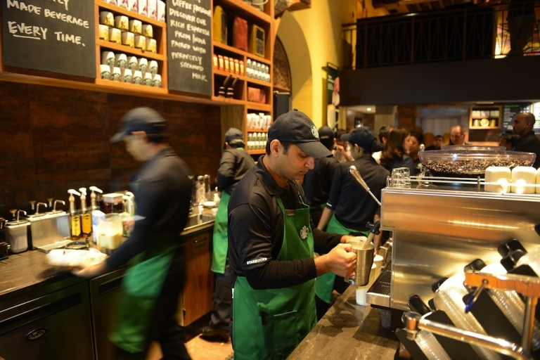 <p>Starbucks CEO Howard Schultz is asking employees at all DC area coffee shops to write 'Come Together' on their cups to encourage Congress to put together a deal to avoid the fiscal cliff.</p>
