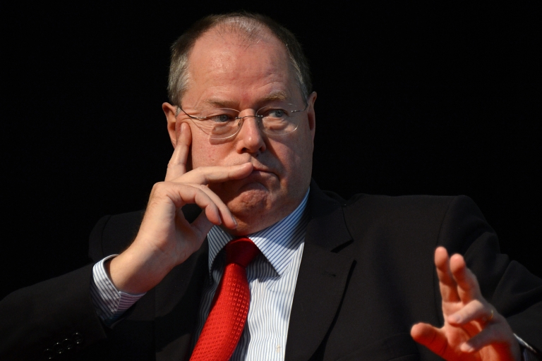 <p>Peer Steinbrueck hopes his strong financial credentials will make him a credible alternative next year.</p>