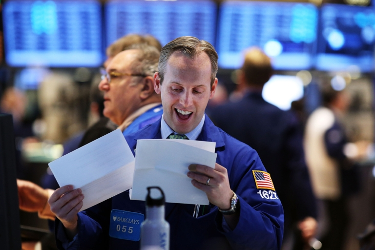 <p>Traders work on the floor of the New York Stock Exchange on January 2, 2013 in New York City. A day after U.S. lawmakers reached a last minute agreement to avert the fiscal cliff, U.S. stocks surged as traders around the globe felt renewed confidence over global markets.</p>