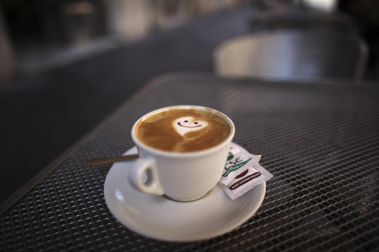 <p>A smiley face and heart adorns the froth of a cappuccino reflecting the romance of Rome on July 9, 2009 in Rome, Italy. With nearly 3000 years of history Rome continues to live up to its motto of The Eternal City for being one of the founding cities of Western Civilization.</p>