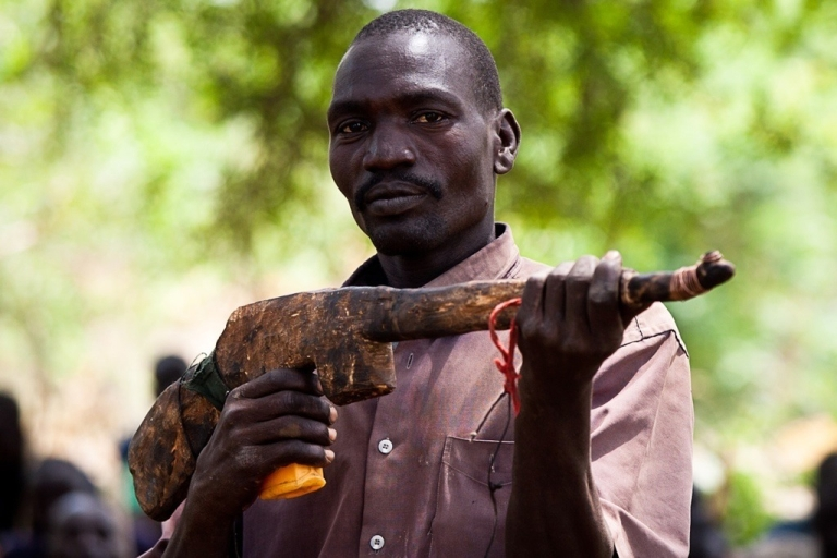 <p>A new recruit for the Sudan People's Liberation Army (SPLA) takes part in a training session in a secret camp in the Nuba Mountains of South Kordofan province in preparation for what they call a long war against Khartoum on July 11, 2011. High up in Sudan's Nuba Mountains, hundreds of men train to join fighters aligned to the ex-rebel army of the South, the SPLA.</p>