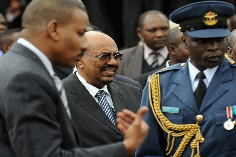 <p>Sudan's President Omar al-Bashir attends the promulgation of Kenya's new constitution ceremonies in the capital, Nairobi, on Aug. 27, 2010.</p>