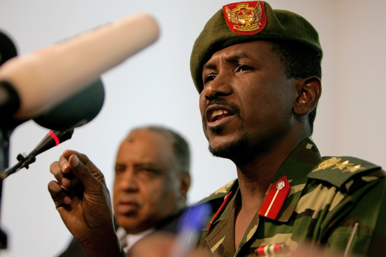 <p>Sudanese army spokesman Sawarmi Khaled Saad speaks during a press conference in Khartoum on Dec. 25, 2011. Sudan's army killed key rebel leader Khalil Ibrahim and 30 of his Darfur-based troops in a battle which was still continuing, officials said, after rebels announced an advance towards the capital.</p>