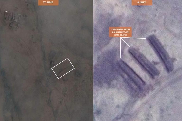 <p>A possible mass grave near Tilo School in Kadugli, South Kordofan province, Sudan.</p>