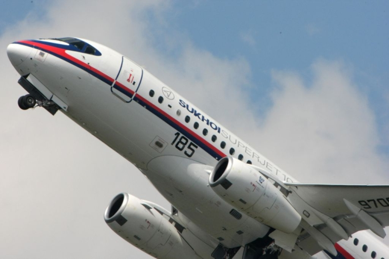 <p>The Russian Sukhoi Superjet 100 at the international Paris Air Show in 2009. An SSJ 100 has gone missing over Indonesia in the middle of a demonstration flight.</p>