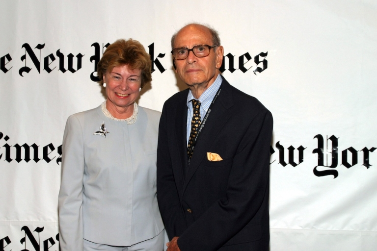 <p>Allison Cowles and Arthur Sulzberger Sr. join Arthur O. Sulzberger Jr. at a gathering of distinguished New Yorkers playing host to The Republican National Convention at Frederick P. Rose Hall in New York City.</p>