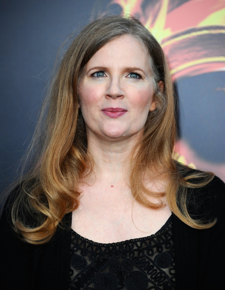 <p>Author Suzanne Collins arrives at the premiere of Lionsgate's
