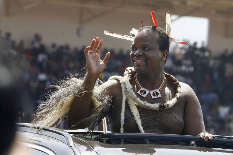 <p>Swaziland, with a stagnant economy, rampant poverty and a soaring HIV rate, has caught the Jasmine contagion. King Mswati III, pictured here in 2008, is one of the world's richest royals. Despite the unrest, he isn't expected to go the way of Mubarak or Ben Ali.</p>