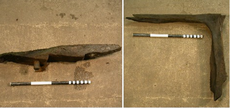 <p>Two parts of the shipwreck found in the Baltic Sea at Sturko.</p>