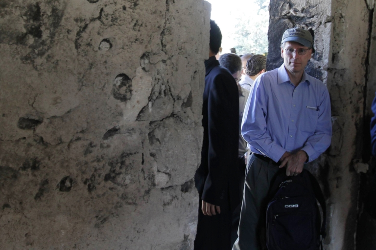<p>US ambassador in Syria Robert Ford on a guided government tour. Later the ambassador went to Hama without Syrian minders, which caused a furious reaction from the Syrian regime.</p>