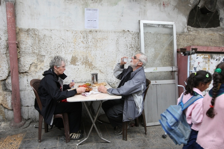 <p>Tourists visit the Old City in Damascus on March 29, 2010. Tourists had been increasingly attracted to the Syrian capital's Old City, considered a protected site by UNESCO.</p>