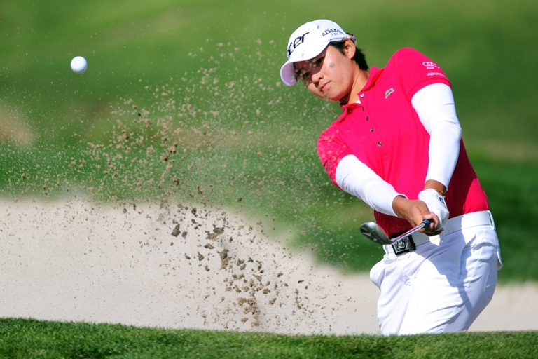 <p>Yani Tseng of Taiwan at the first hole during the fourth round of the Kia Classic at the La Costa Resort and Spa on March 25, 2012 in Carlsbad, Calif.</p>