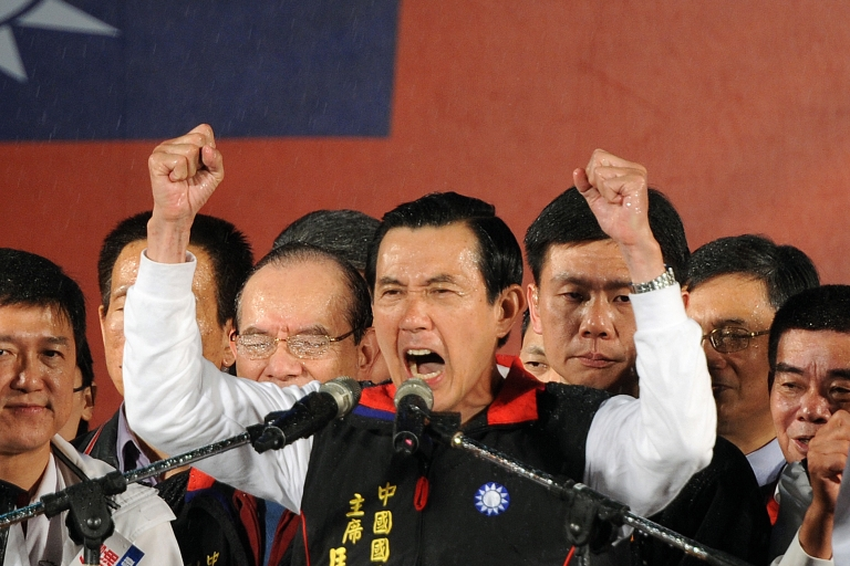 <p>Taiwan voters reelect President Ma Ying-jeou.</p>
