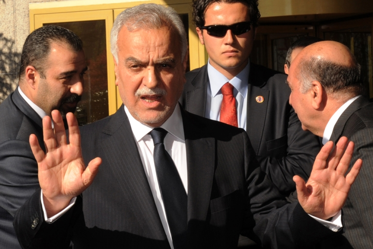 <p>Iraqi Vice President Tariq al-Hashemi was charged with killing six judges and a series of other crimes on April 30, 2012. Hashemi, who has sought refuge in the Kurdish north of Iraq is currently in Istanbul, Turkey and will not appear at his trial.</p>