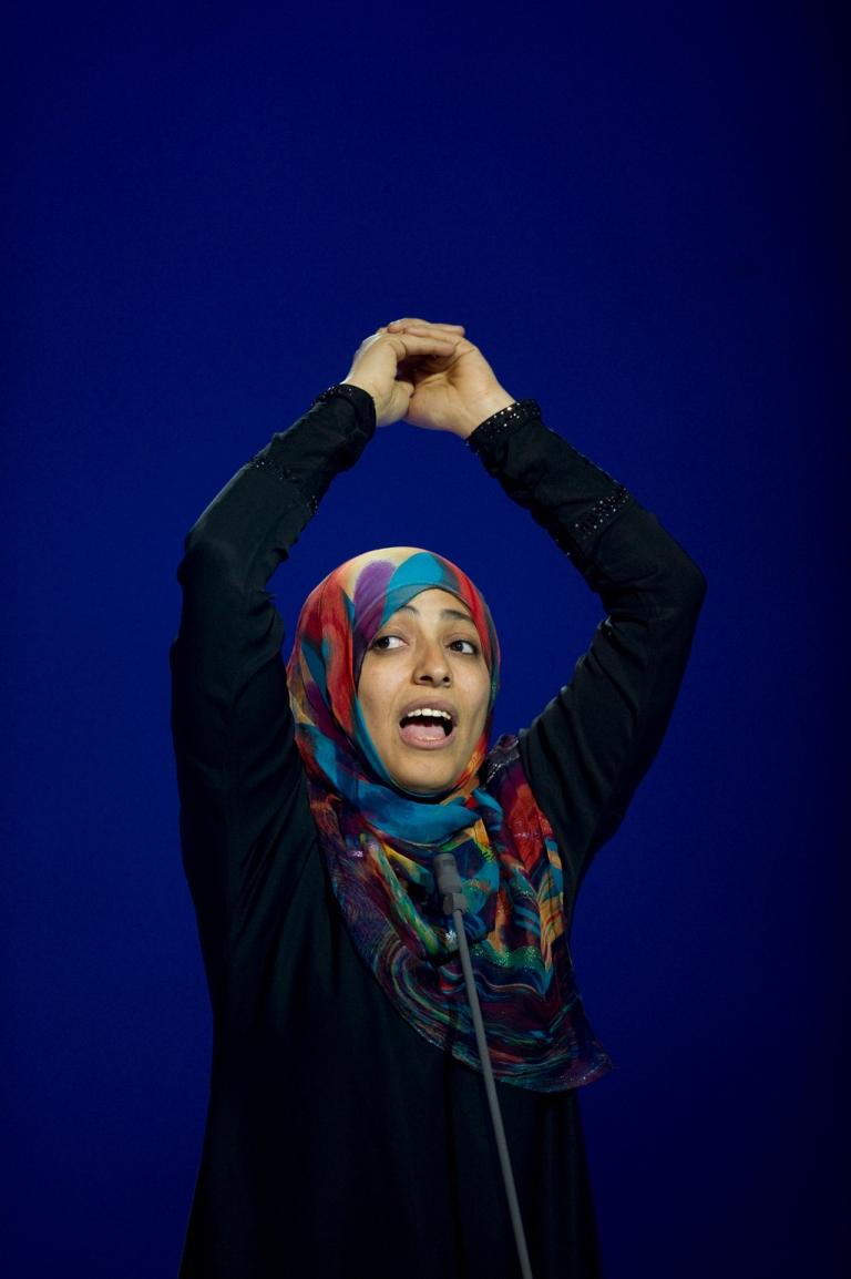 <p>Tawakkul Karman at the Nobel Peace Prize concert last weekend.</p>