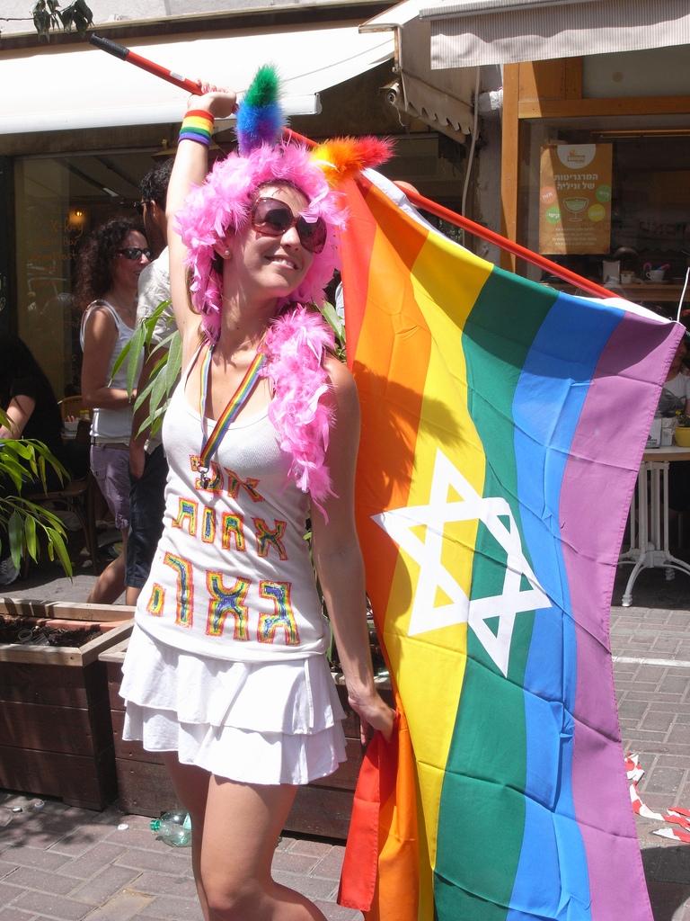 <p>A reveler at last year's gay pride parade in Tel Aviv, Israel.</p>