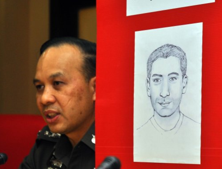<p>This photo, first released by BangkokBizNews.com, reveals a Thai police sketch of a Lebanese man suspected of plotting bomb attacks against tourists in Bangkok, Thailand.</p>
