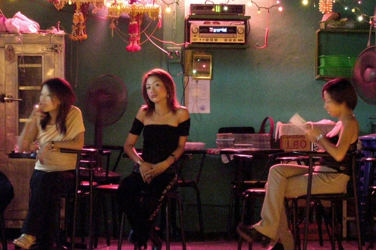 <p>Prostitutes in Thailand wait for customers near the Thai-Malaysia border.</p>