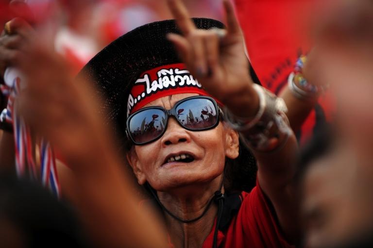<p>A Thai anti-government