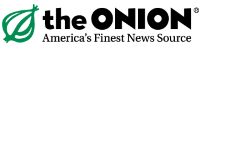 <p>Logo of the satirical news agency The Onion.</p>