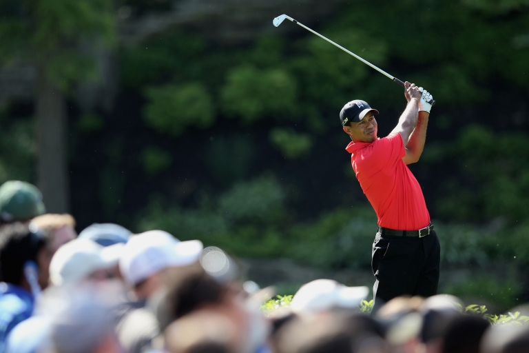 <p>Tiger Woods hits a shot on the during the final round of the Memorial Tournament presented by Nationwide Insurance at Muirfield Village Golf Club on June 3, 2012 in Dublin, Ohio.</p>