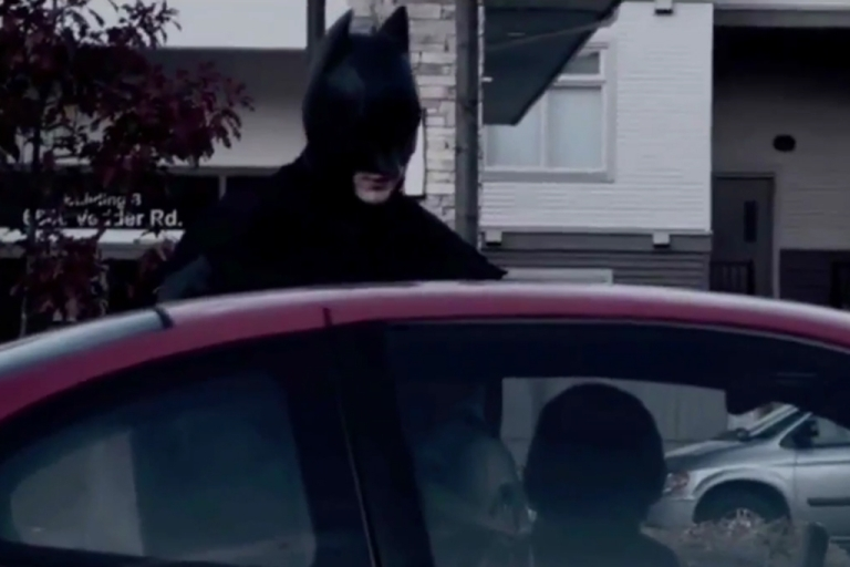<p>Police say suburban Vancouver teens dressed as superheroes helped them charge three men with child luring today.</p>