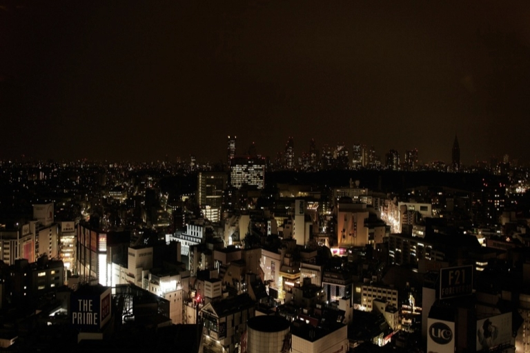 <p>A general view of a darkened Tokyo skyline during peak hour due to power cuts after an 9.0 magnitude strong earthquake struck on March 11 off the coast of north-eastern Japan, March 15, 2011 in Tokyo, Japan.</p>