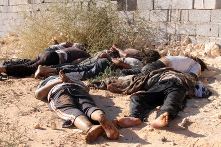 <p>Some appeared to have been killed execution-style, their hands bound.</p>